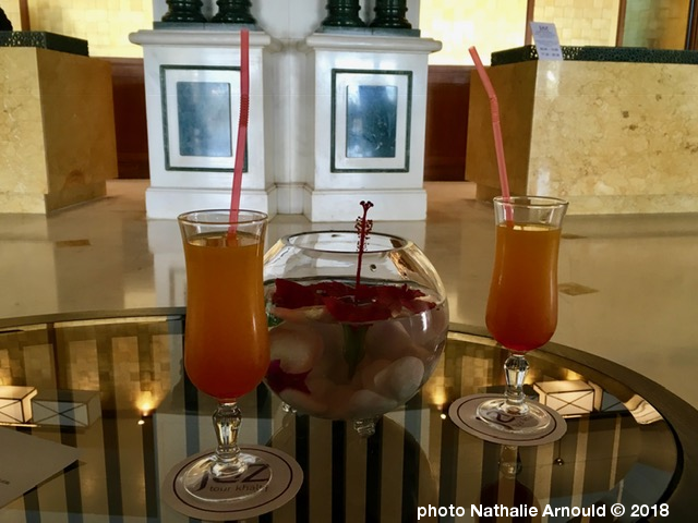 cocktail de bienvenue à l'hôtel en Tunisie